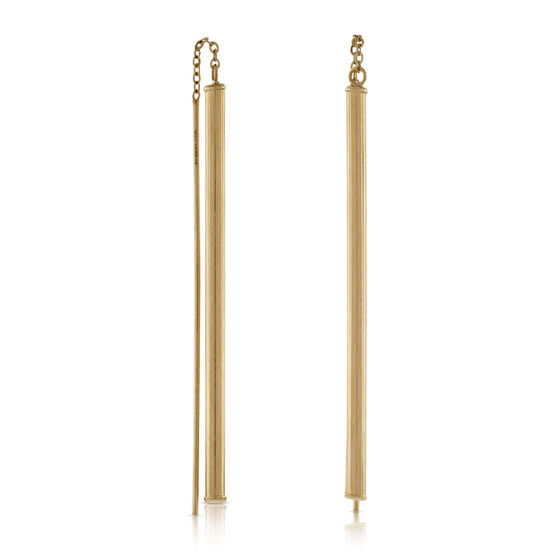 Linear Threader Earrings in Yellow Gold 14K
