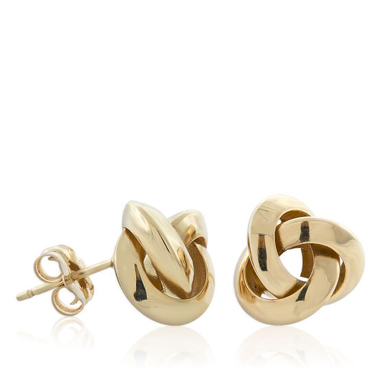 Looped Knot Earrings 14K