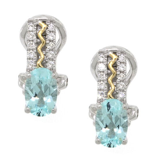 Paraiba Tourmaline & Diamond Earrings 18K