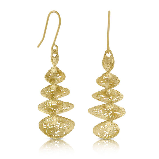 Toscano Collection Microfusion Spiral Earrings 14K