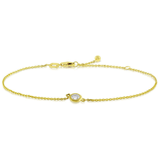 Bezel Set Diamond Bracelet 14K