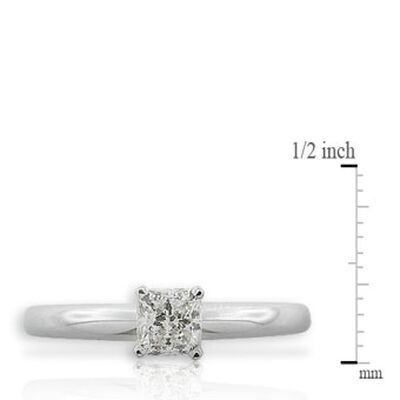 Ikuma Canadian Princess Cut Diamond Solitaire Ring 14K, 1/2 ct.