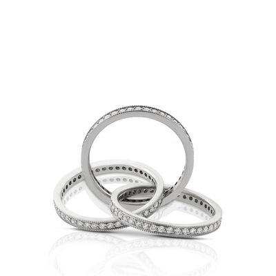 Diamond Rolling Ring in Platinum - Size 6.5