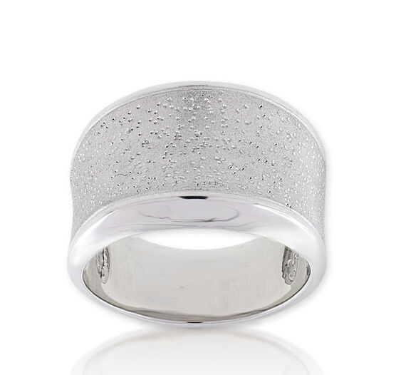 Concave Ring in Sterling Silver