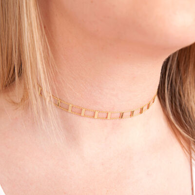 Adjustable Railroad Chain Choker 14K