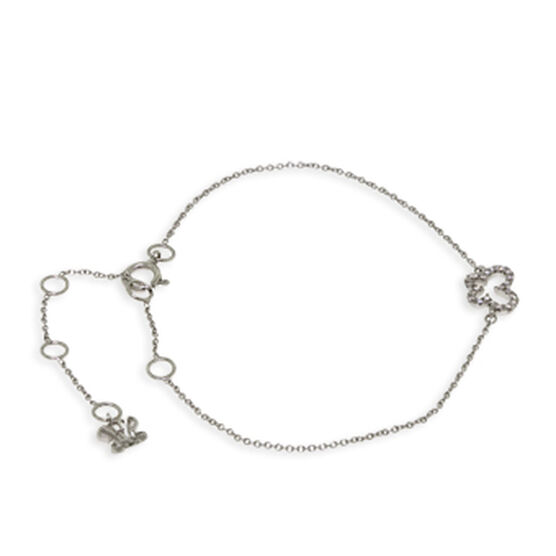 Tiny Butterfly Diamond Bracelet 14K