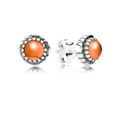 PANDORA Birthday Blooms July Earrings