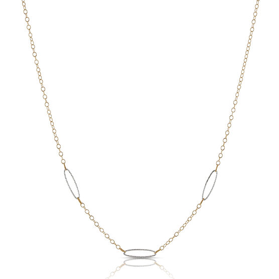 Oval Link Chain 14K, 17""