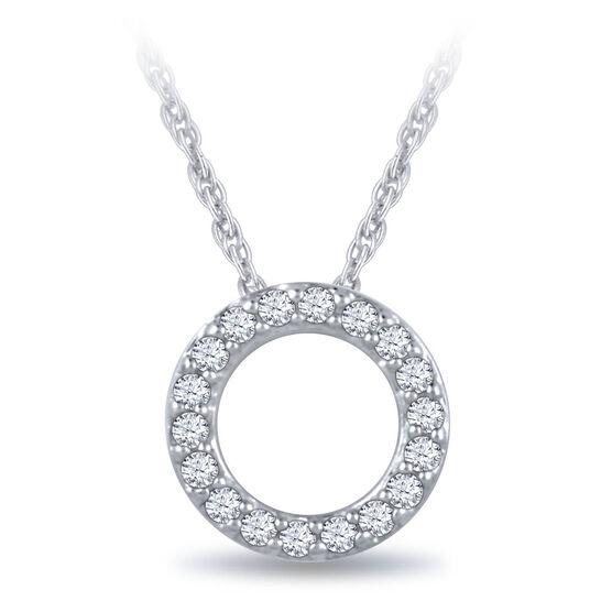 Diamond Initial Pendant 14K Letter 'O'