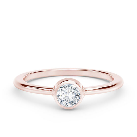 The Forevermark Tribute™ Collection Classic Bezel Ring, 18K Rose Gold