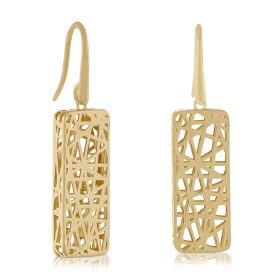 Toscano Collection Rectangle Earrings 14K
