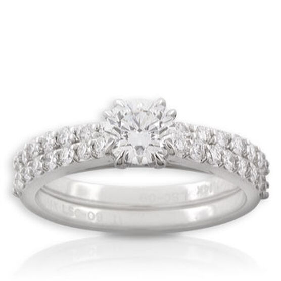 Forevermark Diamond Bridal Set 14K, .71 ct. center