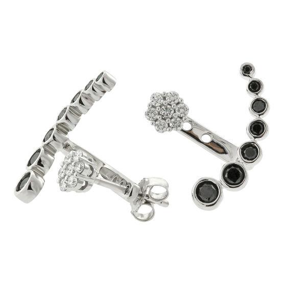 Black & White Diamond Ear Cuffs 14K