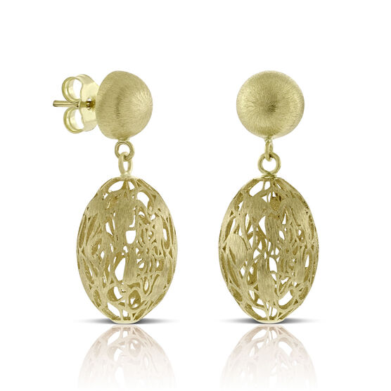 Toscano Filigree Bead Earrings 14K