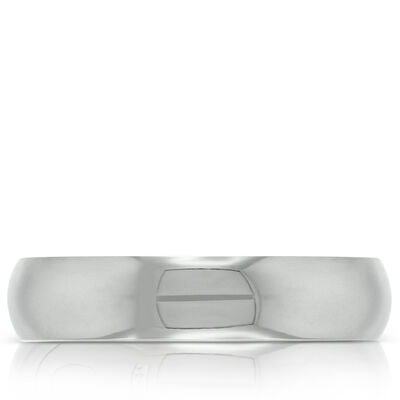 Men's Wedding Band in Platinum, Size 10