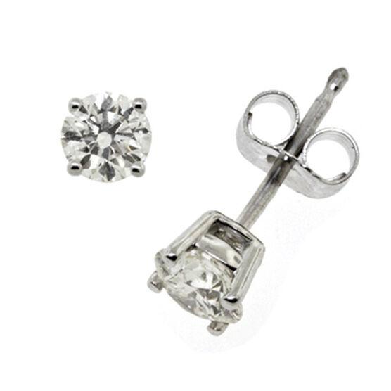 AGS Ideal Cut Diamond Earrings 14K, 3/4 ctw.
