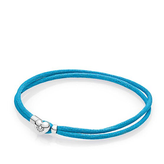 PANDORA Turquoise Fabric Cord Bracelet