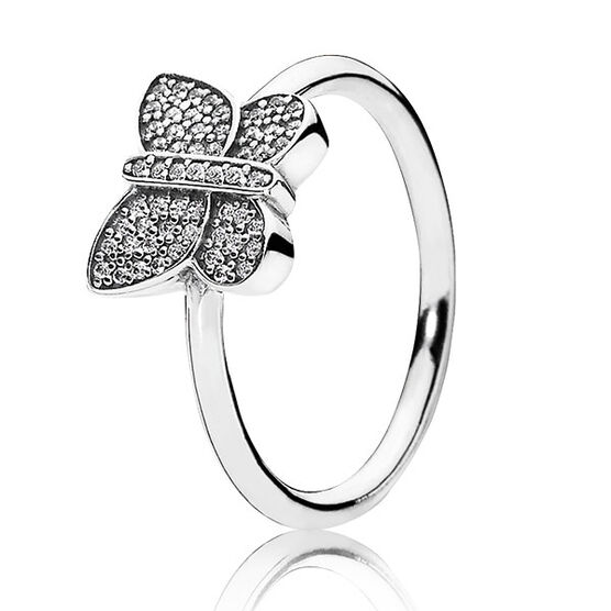 PANDORA SPARKLING BUTTERFLY RING