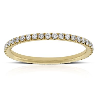 diamond eternity band 14k - Womens Wedding Ring