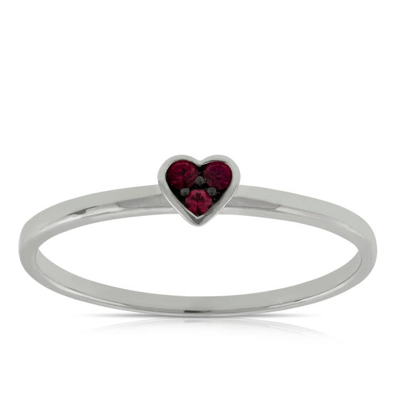 Heart Ruby Ring 14K