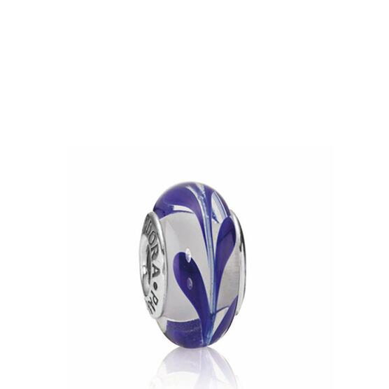 PANDORA Blue Swirly Swirl Charm RETIRED