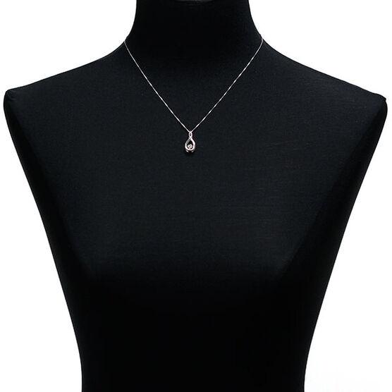 Love's Pulse Diamond Swirl Pendant in Sterling Silver