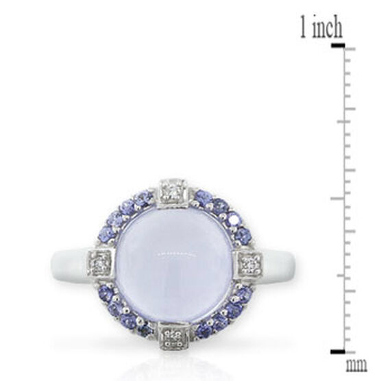 Gemstone & Diamond Ring 14K