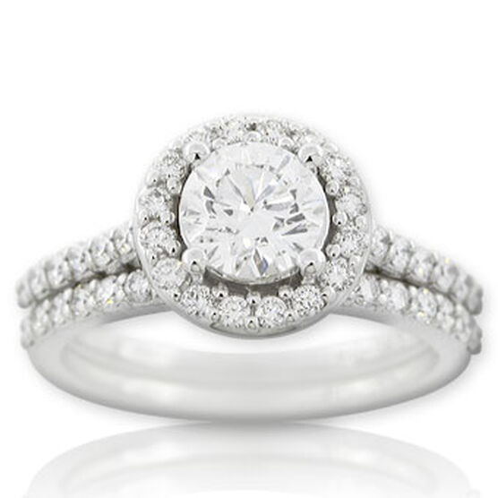 Forevermark Diamond Wedding Set 14K, 1 ct. center