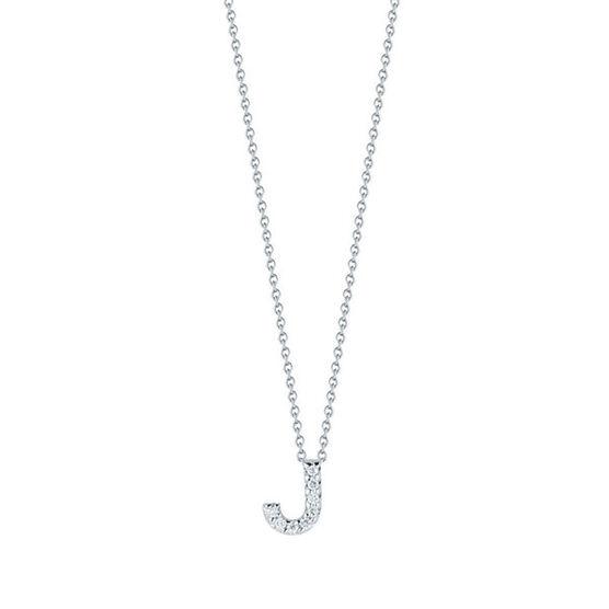 Roberto Coin Diamond Initial Pendant 18K Letter 'J'