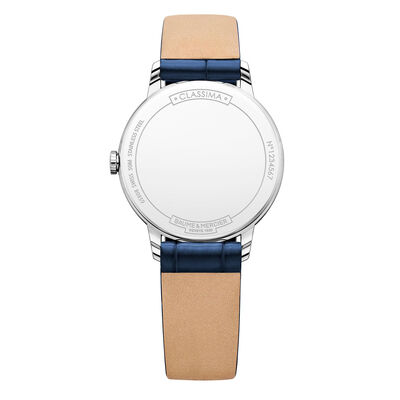 Baume & Mercier CLASSIMA Blue Strap Watch 31mm