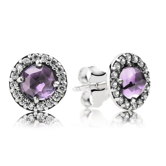 PANDORA Glamorous Legacy Earrings, Amethyst