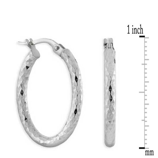 Oval Hoop Earrings 14K