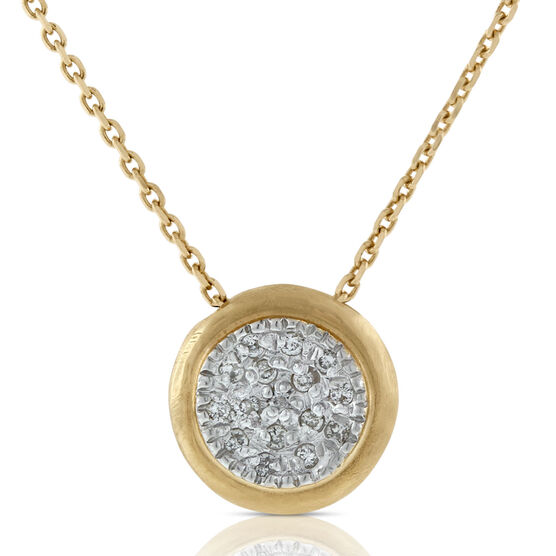 Toscano Satin Diamond Pavé Necklace 14K