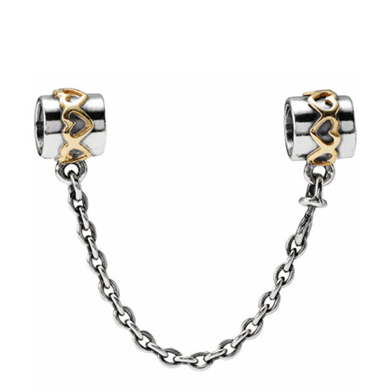 PANDORA Heart Safety Chain, Silver & 14K