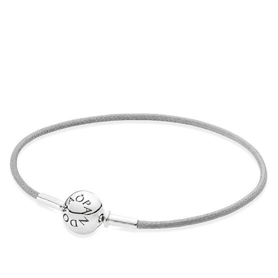 "PANDORA ESSENCE Single Grey Cord Bracelet RETIRED 7.1"""