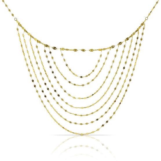 Multi-Strand Bib Necklace 14K