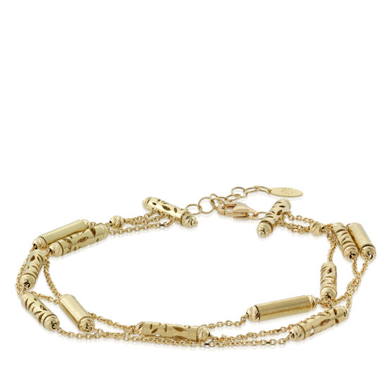 Toscano Three-Strand Beaded Bracelet 18K