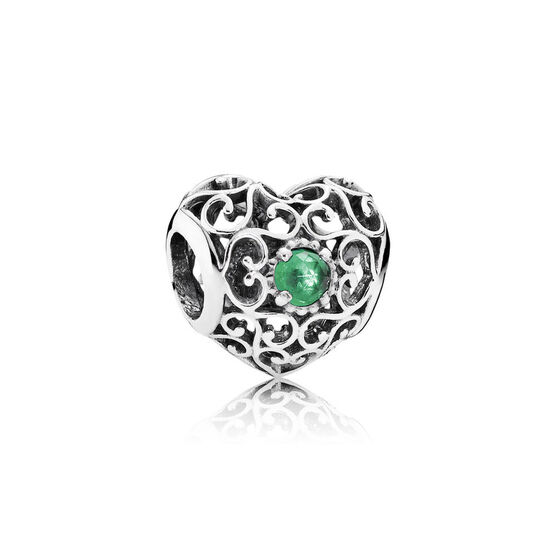 PANDORA May Signature Heart Charm