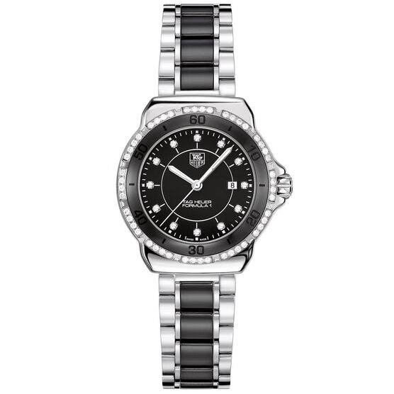 TAG Heuer Formula 1 Black Watch with Diamonds, 32mm