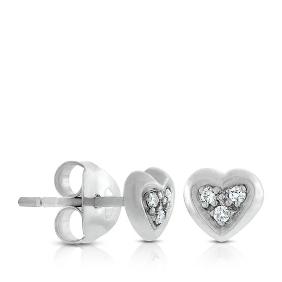 Lisa Bridge Diamond Hearts Combined Earrings