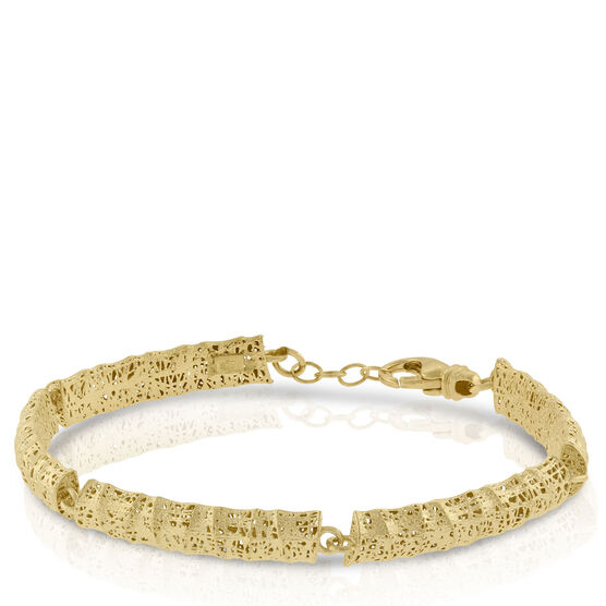 Toscano Collection Curved Microfusion Bracelet 14K