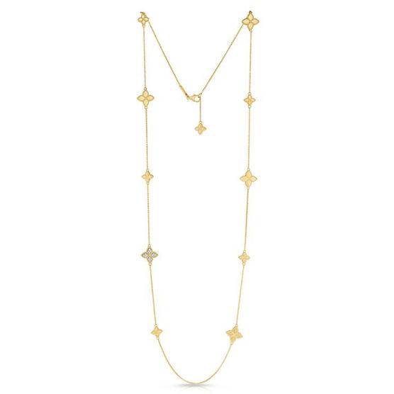 Roberto Coin Diamond Station Necklace 18K