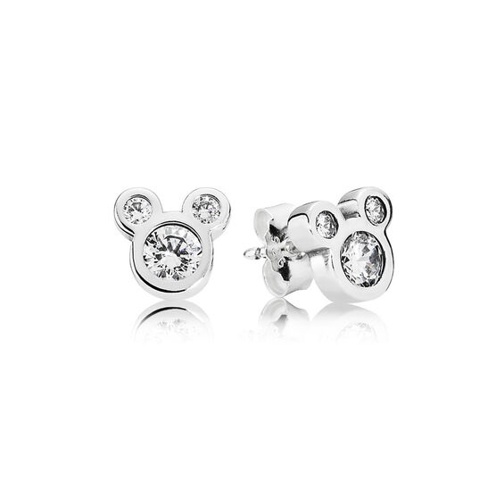 PANDORA Disney Dazzling Mickey Earrings