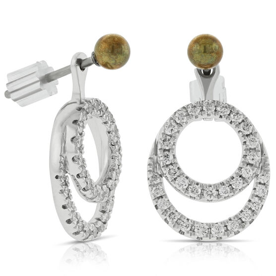 Convertible Diamond Earrings Jackets 14K