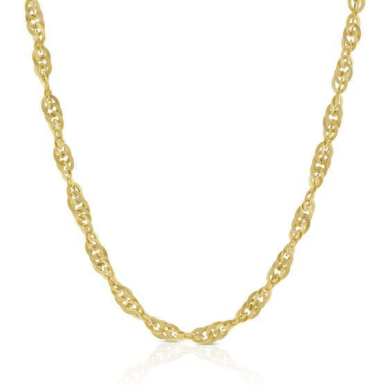 Toscano Interlocking Curb Chain 14K