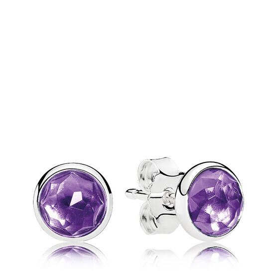 PANDORA February Droplet Earrings