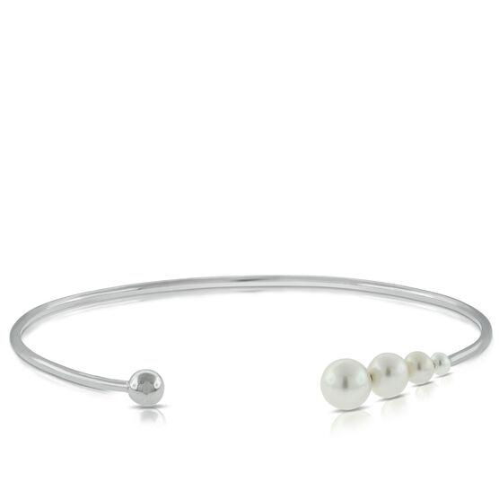 Cultured Pearl Cuff Bracelet 14K