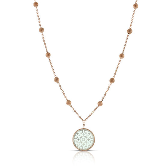 Rose Gold Toscano Mother of Pearl Necklace 14K