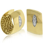 Roberto Coin Huggy Diamond Earrings 18K