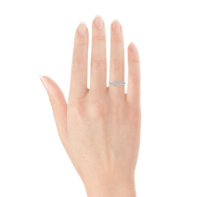 Braided Diamond Ring 14K